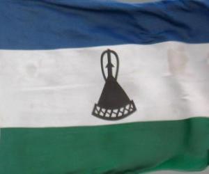 puzzel Vlag van Lesotho
