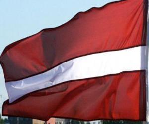 puzzel Vlag van Letland