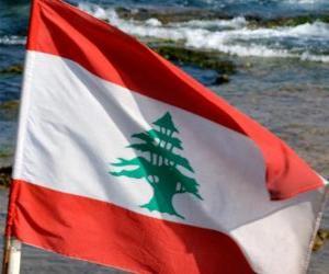 puzzel Vlag van Libanon