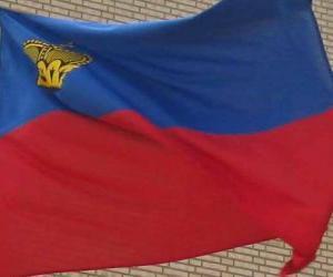 puzzel Vlag van Liechtenstein