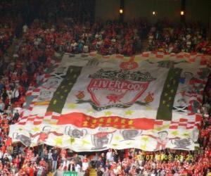 puzzel Vlag van Liverpool FC