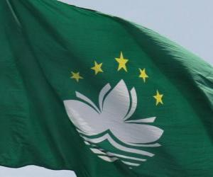 puzzel Vlag van Macau