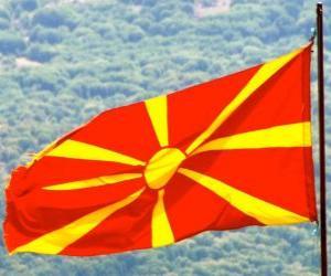 puzzel Vlag van Macedonië