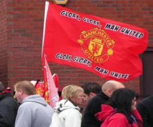 puzzel Vlag van Manchester United FC