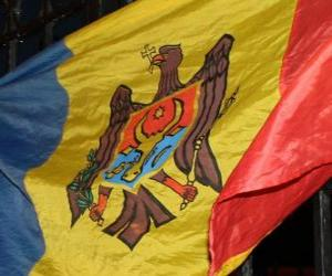 puzzel Vlag van Moldavië