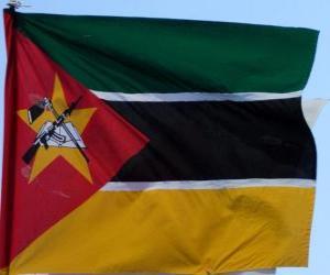 puzzel Vlag van Mozambique