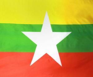 puzzel Vlag van Myanmar