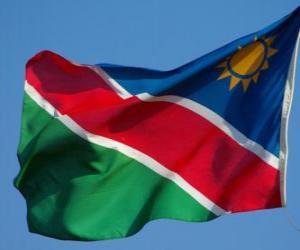 puzzel Vlag van Namibië
