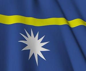puzzel Vlag van Nauru