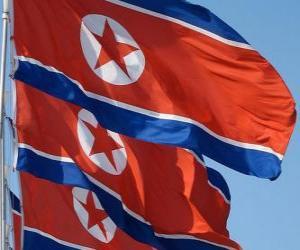 puzzel Vlag van Noord-Korea