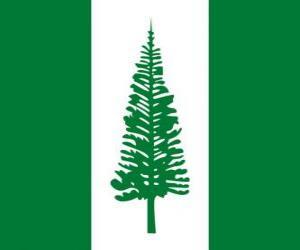 puzzel Vlag van Norfolk eiland