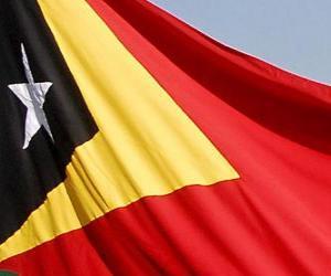 puzzel Vlag van Oost-Timor