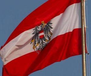 puzzel Vlag van Oostenrijk