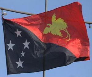 puzzel Vlag van Papoea-Nieuw-Guinea
