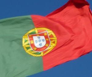 puzzel Vlag van Portugal