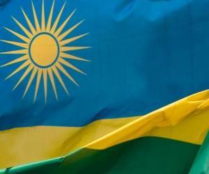 puzzel Vlag van Rwanda