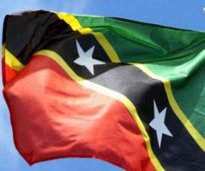 puzzel Vlag van Saint Kitts en Nevis