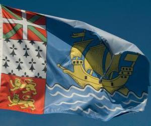 puzzel Vlag van Saint-Pierre en Miquelon