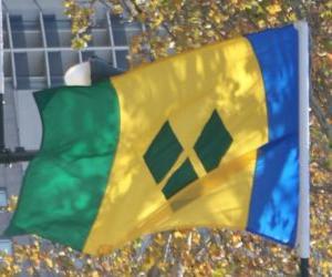 puzzel Vlag van Saint Vincent en de Grenadines