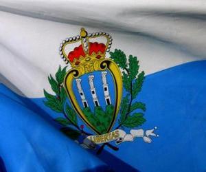 puzzel Vlag van San Marino
