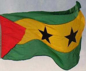 puzzel Vlag van Sao Tomé en principe