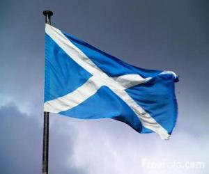 puzzel Vlag van Schotland, het land van het Verenigd Koninkrijk
