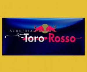 puzzel Vlag van Scuderia Toro Rosso F1
