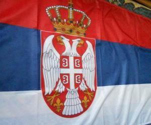 puzzel Vlag van Servië