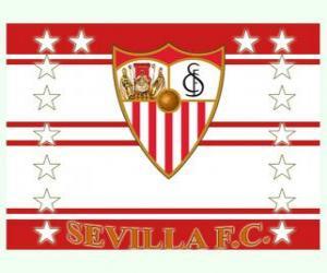 puzzel Vlag van Sevilla FC