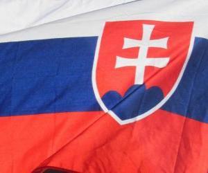 puzzel Vlag van Slowakije