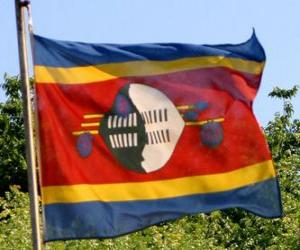 puzzel Vlag van Swaziland