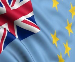 puzzel Vlag van Tuvalu