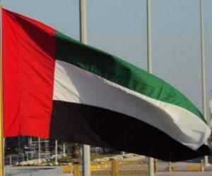 puzzel Vlag van Verenigde Arabische Emiraten