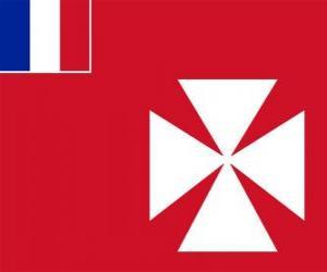puzzel Vlag van Wallis en Futuna