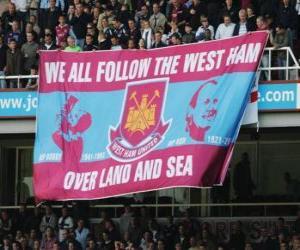 puzzel Vlag van West Ham United FC