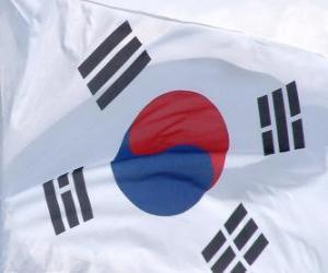 puzzel Vlag van Zuid-Korea