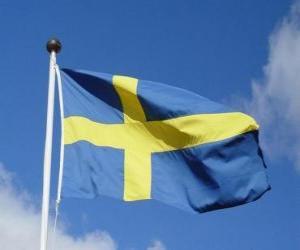 puzzel Vlag van Zweden