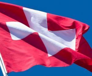 puzzel Vlag van Zwitserland