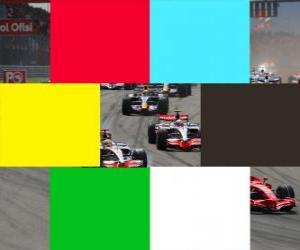 puzzel Vlaggen kleuren F1