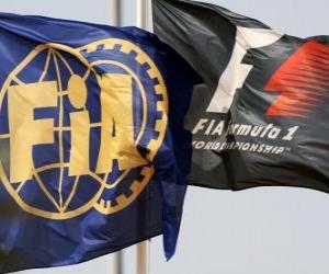 puzzel Vlaggen van de Internationale Automobiel Federatie