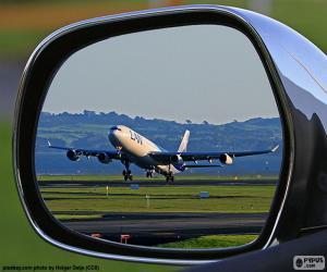 puzzel Vliegtuig opstijgen