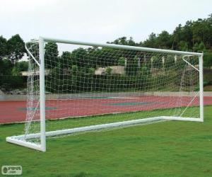 puzzel Voetbal doel