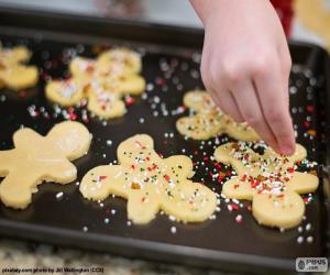 puzzel Voorbereiding kerst koekjes
