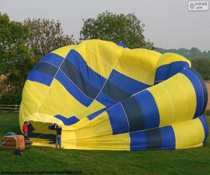 puzzel Voorbereiding van de hete lucht ballon
