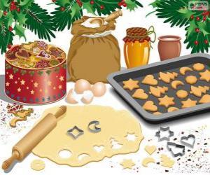 puzzel Voorbereiding van Kerst koekjes