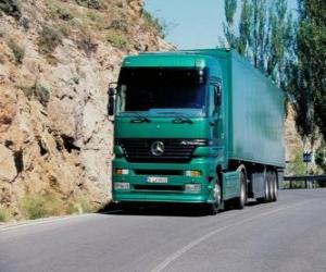 puzzel Vrachtwagen aanhangwagen