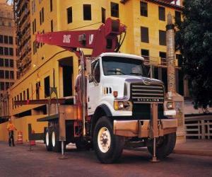 puzzel Vrachtwagen kraan