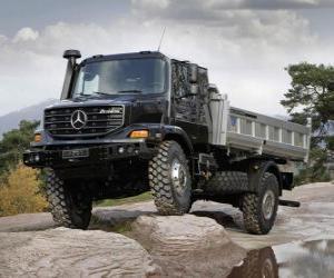 puzzel Vrachtwagen Mercedes-Benz Zetros