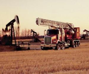 puzzel Vrachtwagen oliewinning