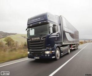 puzzel Vrachtwagen Scania R 580 4 × 2 stroomlijnen